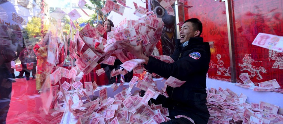 a lot of China money (like a very big salary)