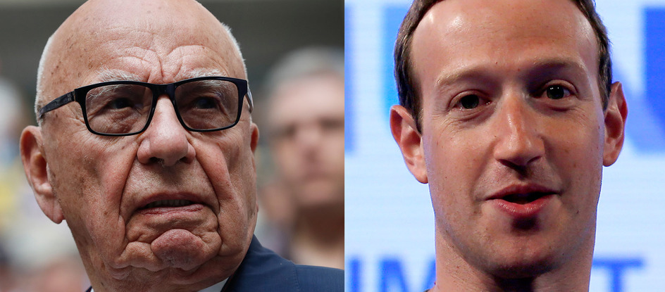 Rupert Murdoch, Mark Zuckerberg