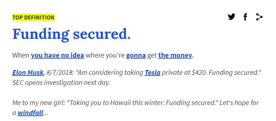 «Funding secured»